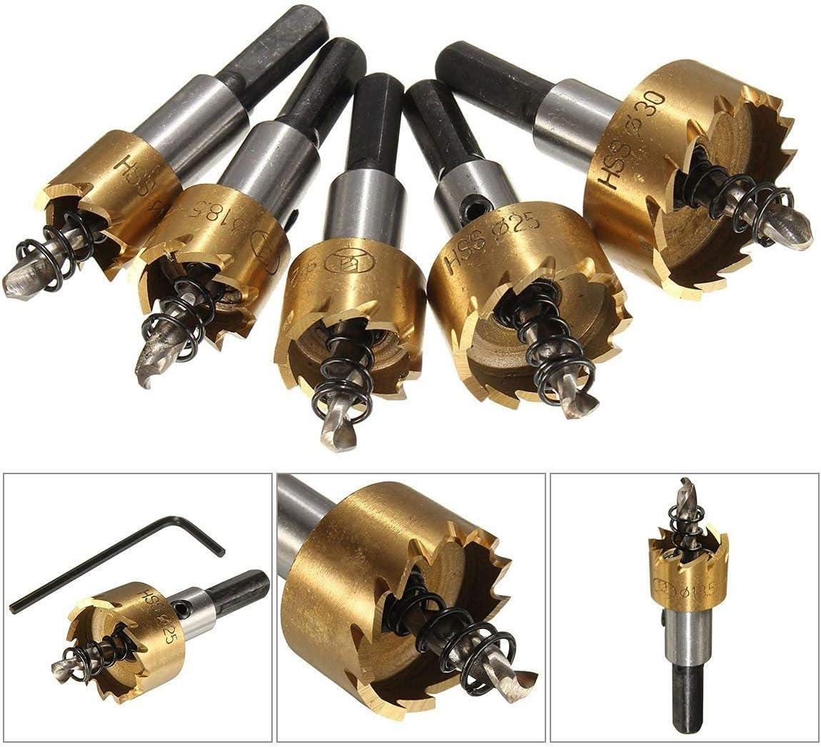 5 piezas HSS4341 agujero de acero de alta velocidad vio perforar chapa de acero inoxidable agujero escariador de metal sierra,Inoxidable Agujero Herramientas Cortadora