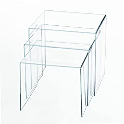 Homcom Table basse gigogne acrylique lot de 3 tables transparentes