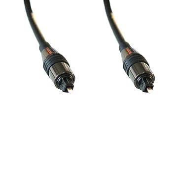 10 m CABLE óptico DIGITAL CABLE - Macho a Macho - TOSlink y SPDIF a -
