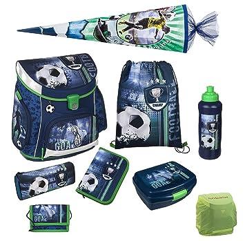 Schulrucksack ergonomisch Sporttasche Scooli Football Fußball Schulranzen 9tlg
