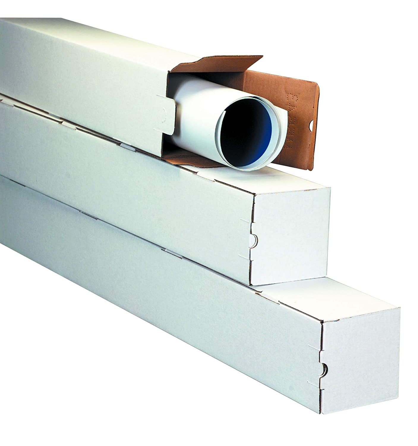 25 Length x 5 Width x 5 Height Oyster White Bundle of 25 Aviditi M5525 Corrugated Square Mailing Tube