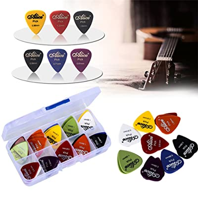 50pcs Guitare Plektrum1 Alice Guitare électrique Accessoires Guitare Picks force Musical Instrument 0,58 à 1,5 New Design