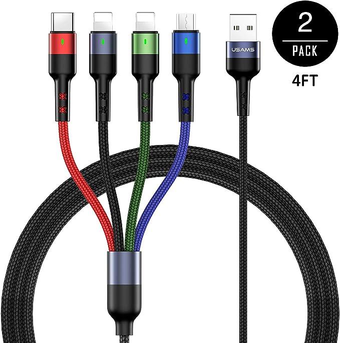 Amazon.com: USAMS - Cable de carga múltiple de nailon ...