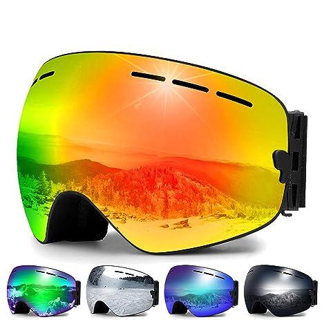 6af11a15a7d6 Amazon.com   Zerhunt Ski Goggles