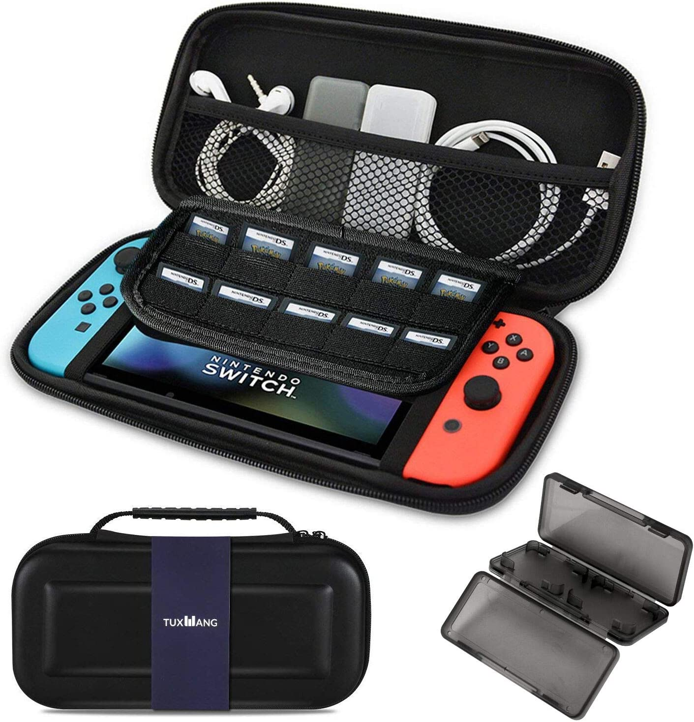 Cubierta para Nintendo Switch - Estuche portátil TUXWANG EVA con Banda elástica Plegable.Adecuado para Cassettes de Juegos y Otros Accesorios de Cambio de Nintendo: Amazon.es: Videojuegos