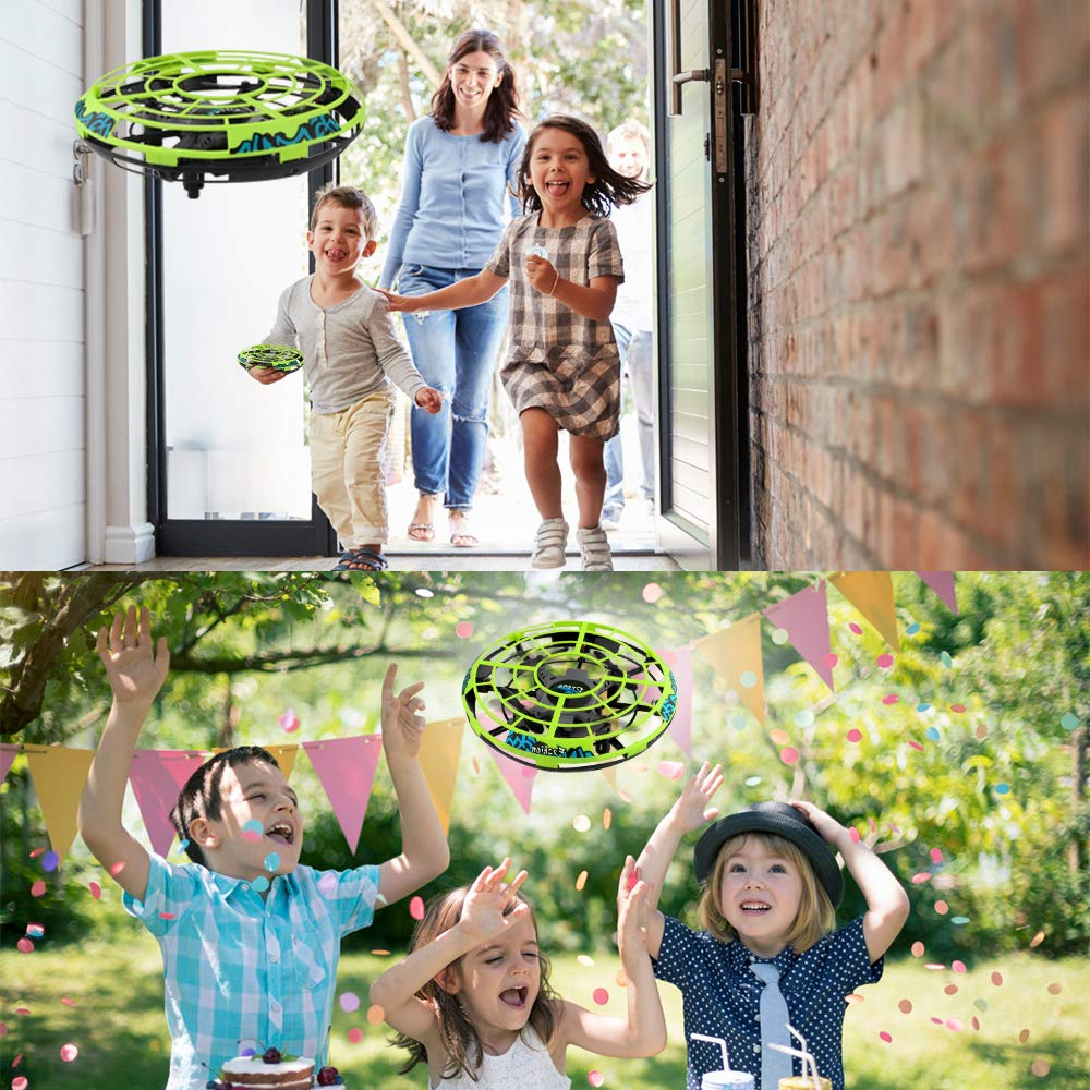 Baztoy Flying Ball RC UFO Drone Flying Saucer Toys Hand Controlled Mini Drone Remote Control Fly Toy New Birthday Gifts with Cool LED Light Indoor Outdoor for Kids, Adults, Girls and Boys by Baztoy (Image #6)