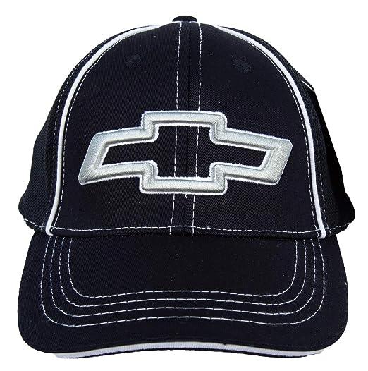 b87828dc351 Amazon.com  Chevy BOWTIE 3D Fitted Flexfit Fine Embroidered Hat Cap ...
