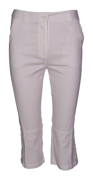 8d2f6ec407d462 Lets Shop Shop Ladies Cotton Stretch 3 4 Cropped Trouser Womens Three  Quarter Casual Crop Shorts Pants Size 8 10 12 14  Amazon.co.uk  Clothing