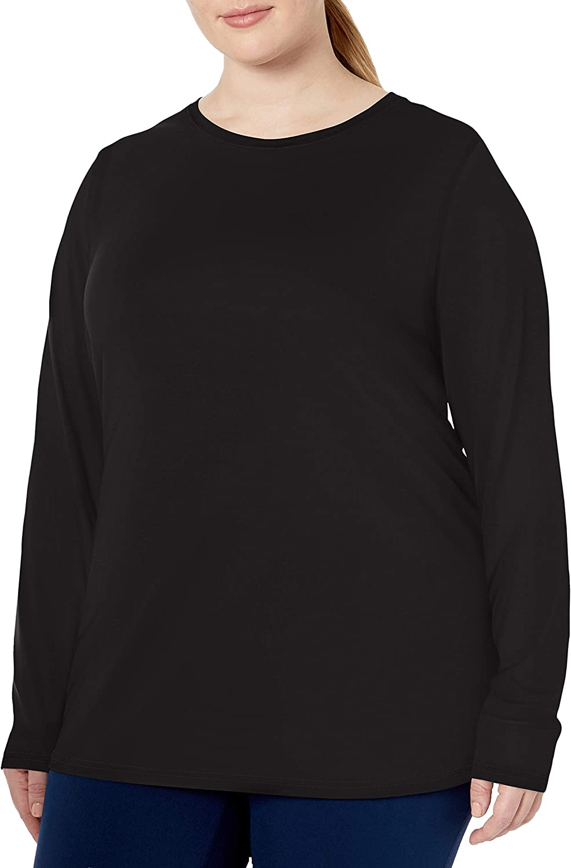 Amazon Essentials Women's Plus Size Tech Stretch Long-Sleeve T-Shirt