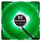 オウルテック PCケース用オリジナルLEDファン 9cm 25mm厚 1600rpm 静音 リブ無し 1年保証 グリーン OWL-FE0925LL-GN