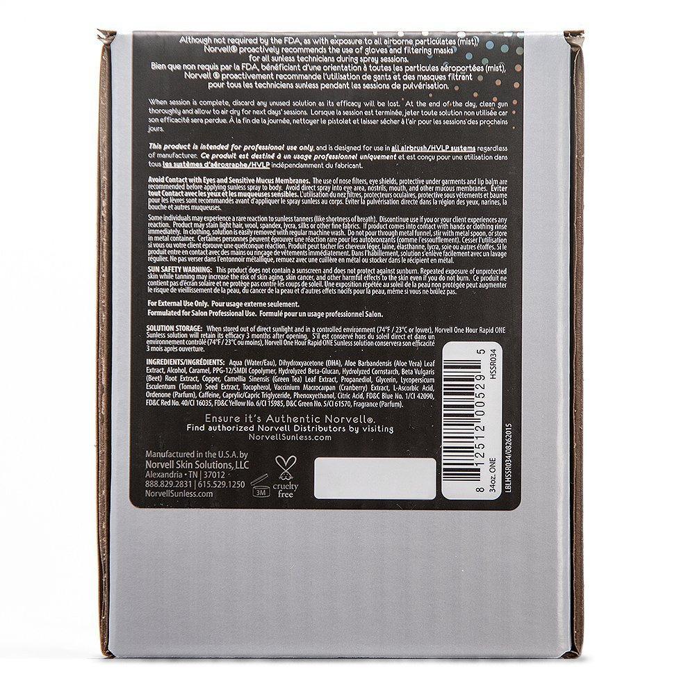 Norvell Premium Sunless Tanning Solution - One Hour Rapid, 1 Liter Box by Norvell (Image #3)