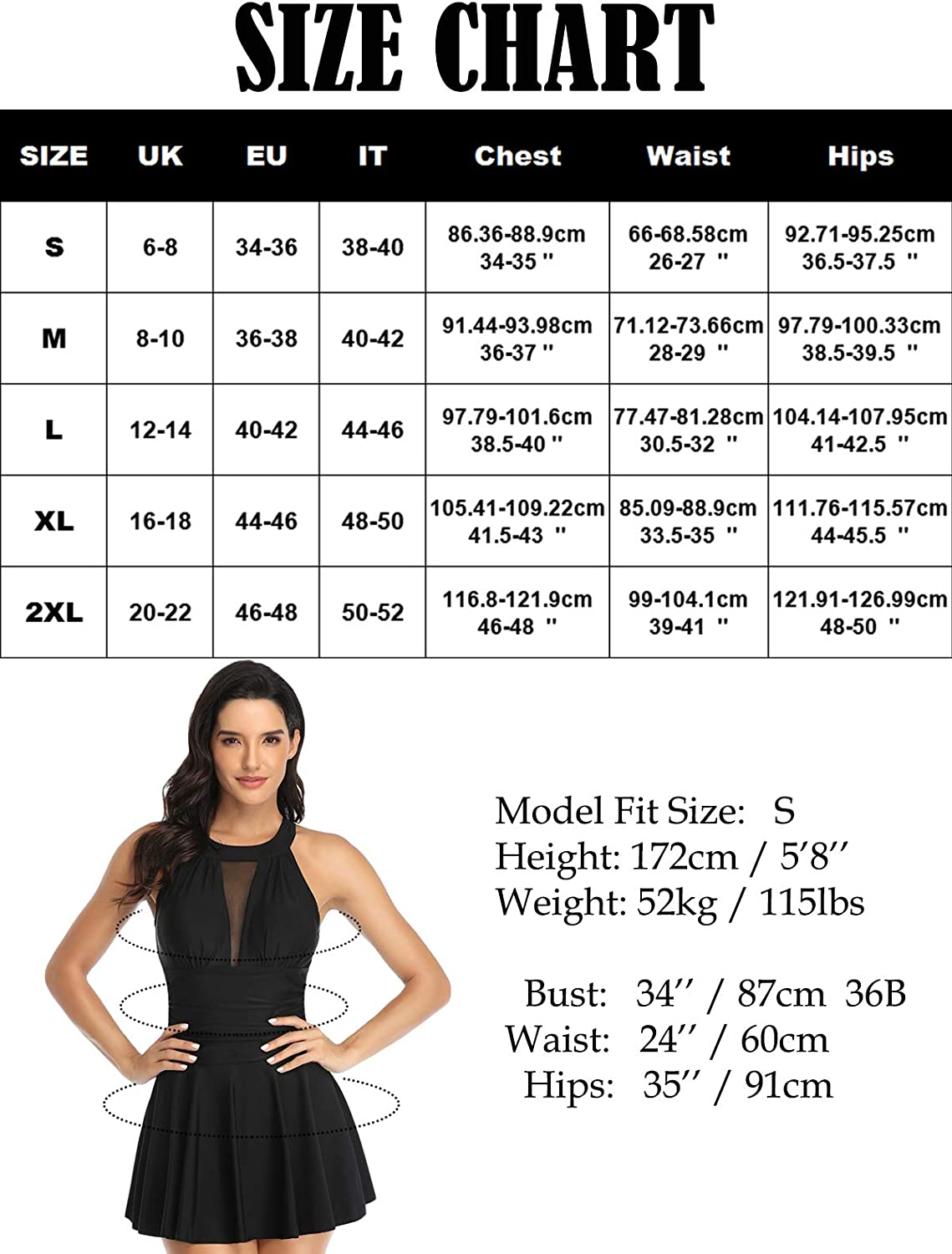Misolin Womens One Piece Swimdress Printed Bathing Suits Swimsuit with Briefs