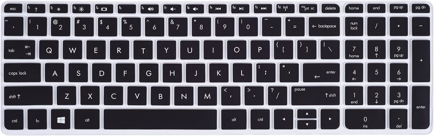"Keyboard Cover for 15.6"" HP Pavilion 15-b 15-d 15-e 15-f 15-g 15-j 15-k 15-n 15-p 15-r 15-u m6-k m6-n, 17.3"" Envy 17-j 17t-j 17-e m7-j - Compatible Models Listed in Product Description, Black"