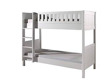 Etagenbett Metall Weiss : Vipack lewis etagenbett holzwerkstoff weiß 96 x 211 174 cm