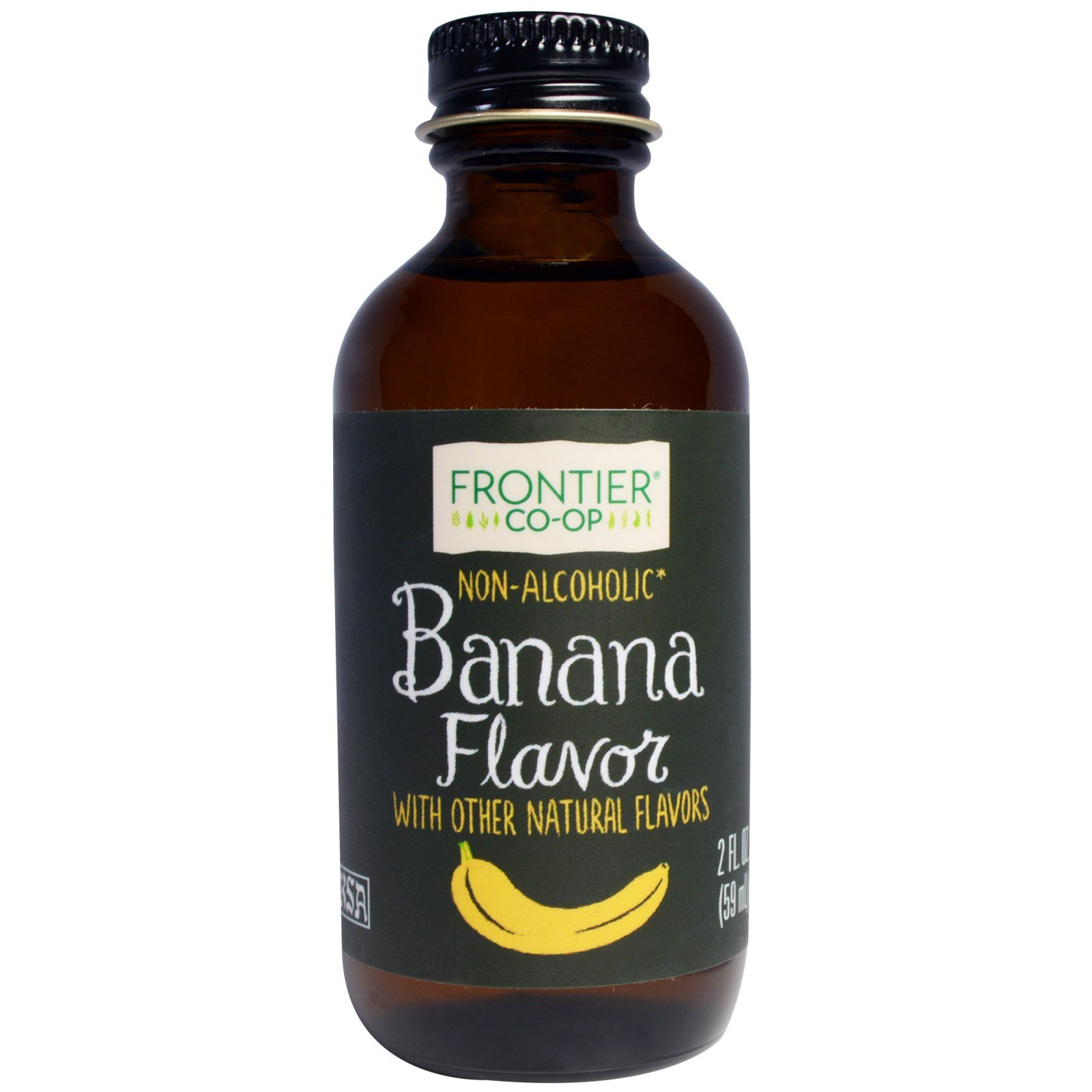 Frontier Natural Products, Banana Flavor, Non-Alcoholic, 2 fl oz (59 ml) - 2pc