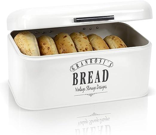 granrosi Panera – Pan de metal compacta caja para guardar el pan ...