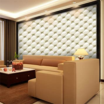 Amazoncom Prettyw Vintage Grid Wall Mural 3d Wallpaper For Bedroom