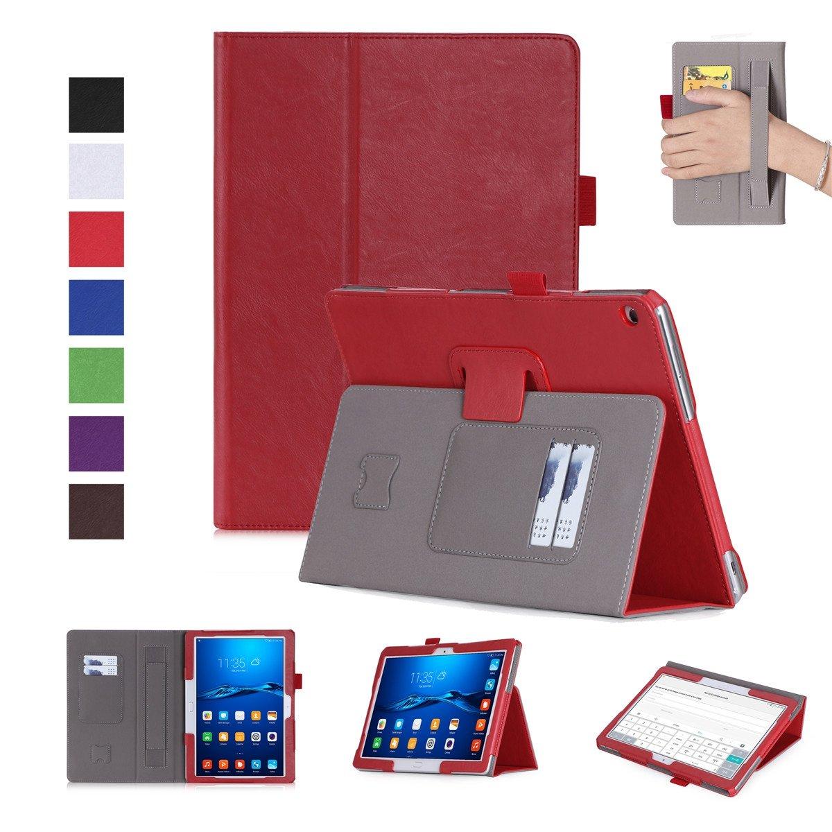 【値下げ】 FugouSell Huawei MediaPad M3 Lite Huawei 10.0用ケース MediaPad プレミアムPUレザー[フリップスタンド] M3 スリム財布ケース フルボディ保護カバー Huawei MediaPad M3 Lite 10.0用 (レッド) B07LCGP65C, プチアーク:7a790cfc --- a0267596.xsph.ru