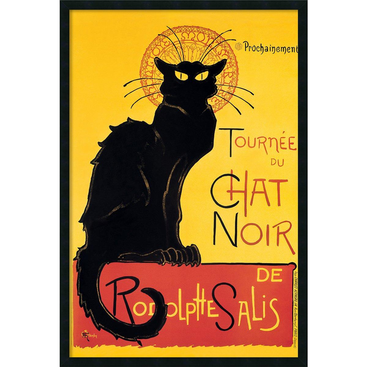 Amazon.com: Framed Art Print, \'Tournee du Chat Noir (Yellow)\' by ...