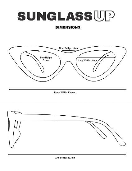 Amazon.com: SunglassUP Retro Vintage Lolita Cat Eye Clout Goggle Style Tinted Lens Sunglasses (Black Frame (Rhinestone) | Black): Clothing