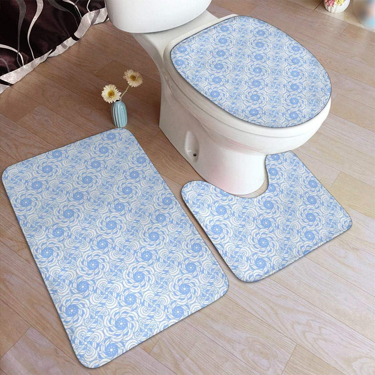 Bathroom Mat Set Non Slip Bath Shower Matt Rugs Carpet Toilet Lid Cover Mats