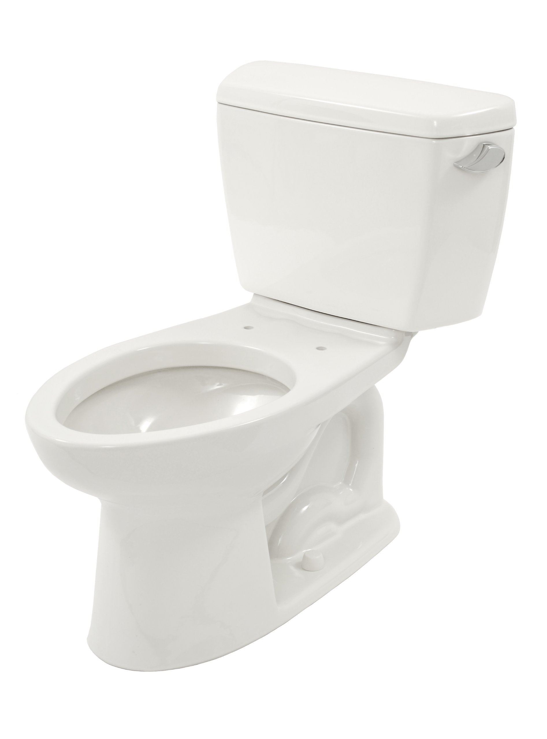 TOTO CST744SR#01 Drake 2-Piece Toilet with Elongated Bowl and Right Hand Trip Lever, Cotton White by TOTO