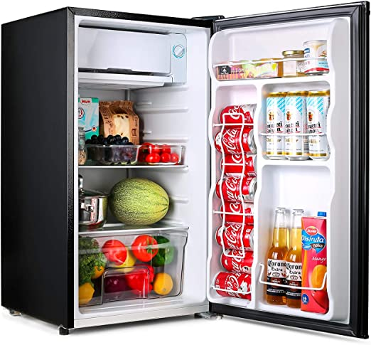 Amazon.com: Compact refrigerator, TACKLIFE Mini Fridge with Freezer, 3.2 Cu.Ft, Silence, 1 Door, Black, Ideal Small Refrigerator for Bedroom, Office, Dorm, RV - MPBFR321: Appliances