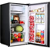 TACKLIFE Compact Refrigerator, 3.2 Cu Ft Mini Fridge with Freezer, Low noise, for Bedroom Office or Dorm with Adjustable Temp