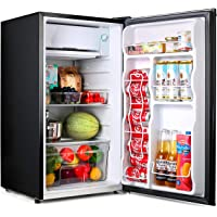Compact refrigerator, TACKLIFE Mini Fridge with Freezer, 3.2 Cu.Ft, Silence, 1 Door, Black, Ideal Small Refrigerator for…
