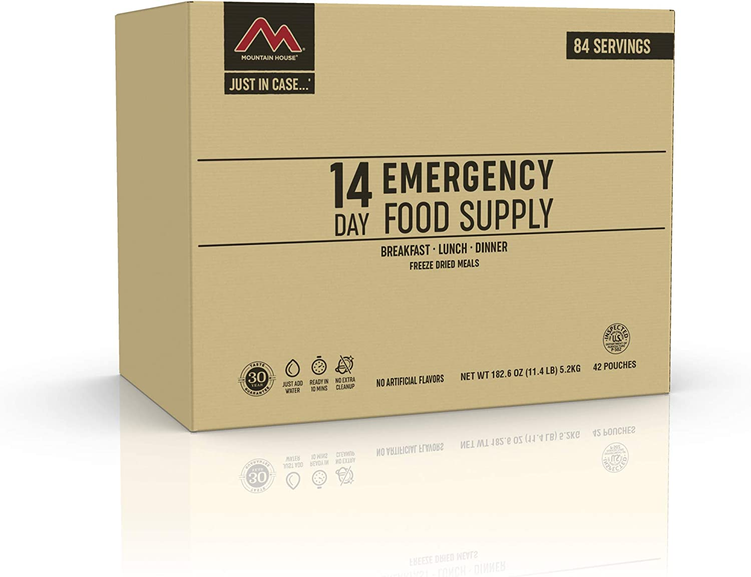 Mountain House 14-Day Emergency Food Supply | Freeze Dried Survival & Emergency Food | 84 Servings