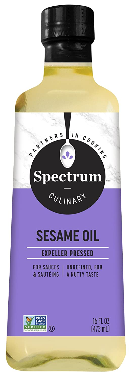 Spectrum Sesame Oil, Unrefined, 16 oz