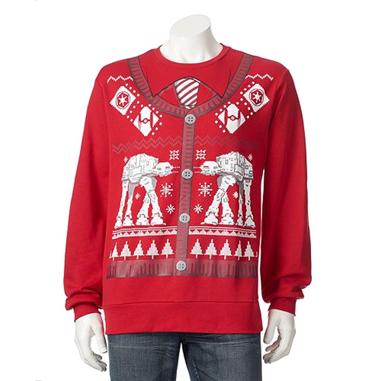 Disney Ugly Christmas Sweater.Disney Star Wars Battle Of Hoth At At Ugly Christmas Sweater Cardigan Print