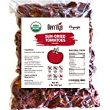 Organic Sun-Dried Tomatoes, 2 lbs, naturally dried with salt, No Sulphur, No preservatives, Just Dried Tomato Halves, Kosher,