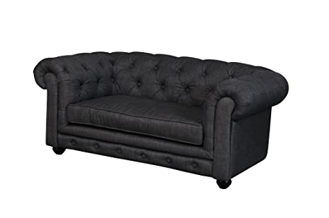 Amazon.com: Pangea Home Z Grey Chester Dogs Sofa in Fabric ...