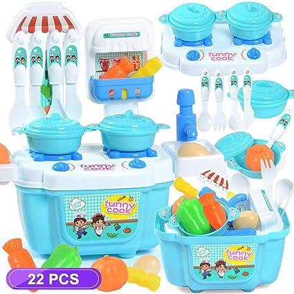 Wooden Kids Kitchen Toy Mini Pan Kitchen Pretend Play for Toddlers 2pcs