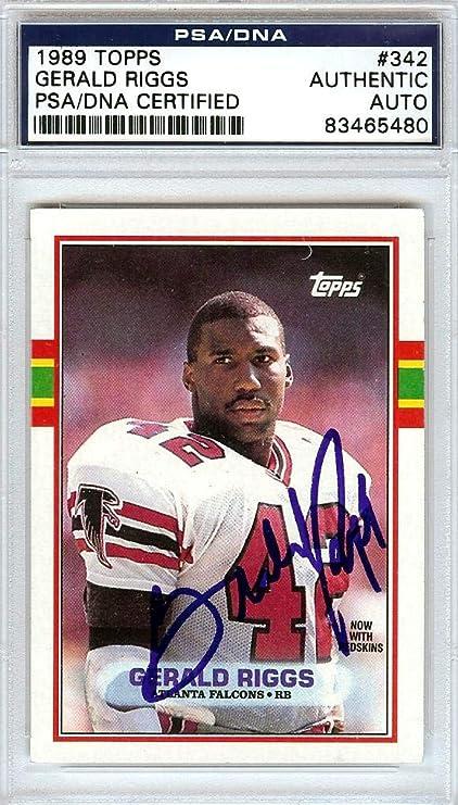 Autographed Gerald Riggs 8x10 Atlanta Falcons Photo.