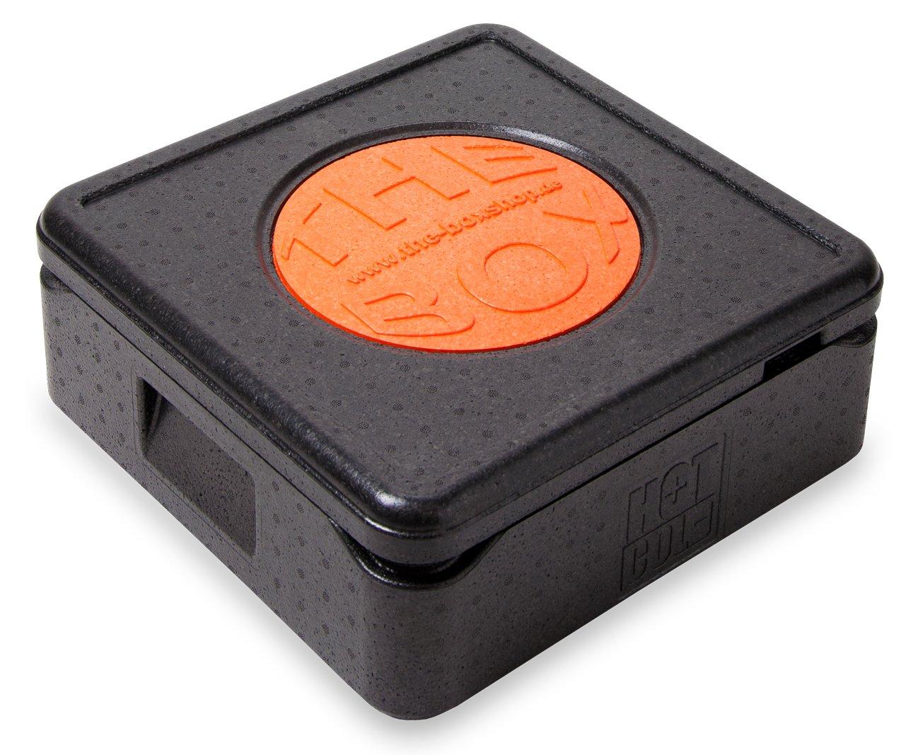 *4er Paket* - THE BOX Thermobox Pizza 79770; schwarz, Außenmaß 41 x 41 x 16,5 cm, Innenmaß 35 x 35 x 10 cm, Nutzhöhe 10 cm, 12 l.