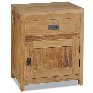 Vidaxl Teck Massif Table De Chevet Armoire Latérale Table D Appoint Table Nuit