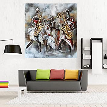 Moderne Kunst Malerei Handgemaltes ÖLgemäLde Charakter Musikinstrument  Randloses Canvas Schlafzimmer Wohnzimmer Wandkunst Hintergrund Dekoration  WandgemäLde ...