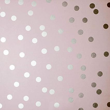 Eccezionale Carta da parati a pois rosa e oro rosa.: Amazon.it: Casa e cucina YA34
