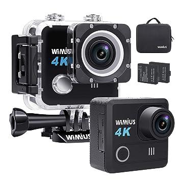 WiMiUS Cámara Deportiva 4K 20MP Ultra HD Resistente al Agua 30m Cámara de Acción con 170