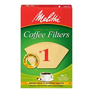 Melitta #1 Super Premium Cone Coffee Filters, Natural Brown, 40 Count (Pack of 12)