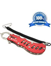 BIBURY Fish Grip, Portable Rustproof Aluminum Alloy Fish Lip Gripper for Saltwater and Freshwater,Fly Fishing,Kayaking Accessories,Popular Ice Fishing,Outdoor Fishing and Angling