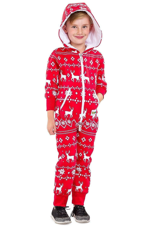 Red and Blue One Piece Xmas PJs Matching Family Christmas Pajamas