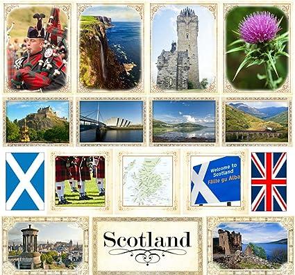 Scotland Exploring Scrapbook Customs World Collection Cardstock Stickers