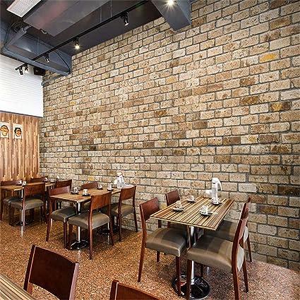 Mizi Decor Raffine 3d Simulation Cafe Restaurant Salon Bar Salon De The Decoration Jardin Vieux Mur De Brique Murale Papier Peint 200 140cm Amazon Fr Sports Et Loisirs