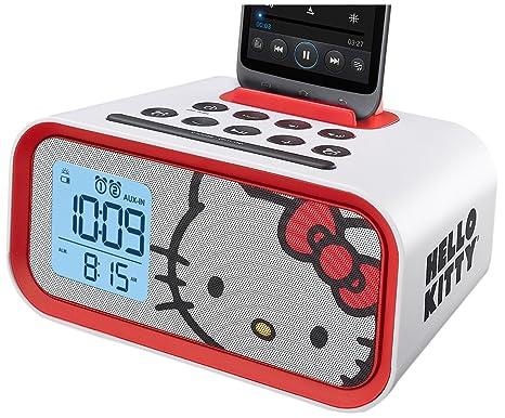 Hello Kitty reloj de alarma dual sistema de altavoces (hy-m23)