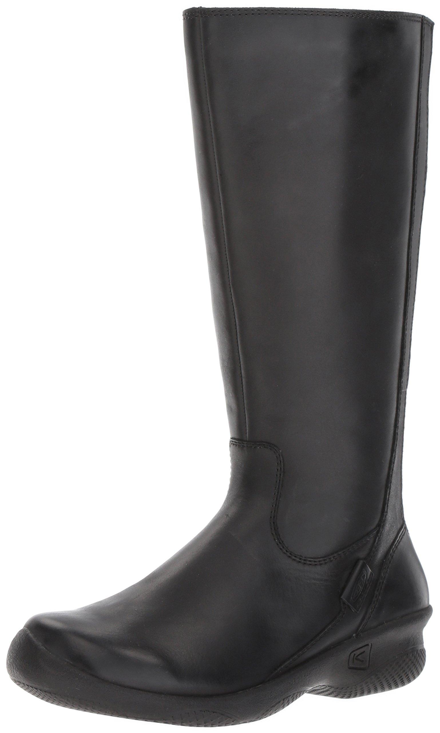 KEEN Women's Baby Bern Ii Wide-w Rain Boot, Black, 11 M US