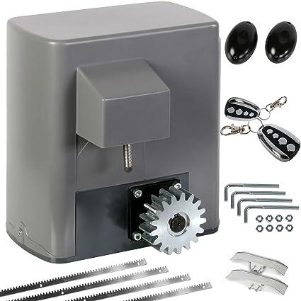 CCLIFE Kit completo Motor corredera profesional para automatizar puertas y cancelas correderas de hasta 600 kg