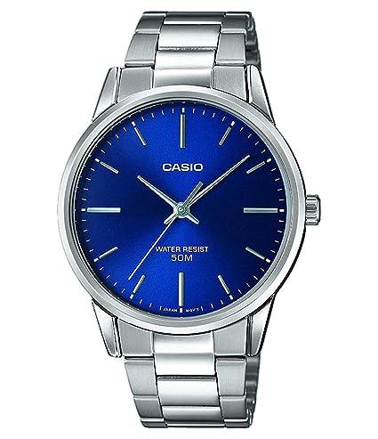 Casio Reloj Analógico para Hombre de Cuarzo con Correa en Acero Inoxidable MTP-1303PD-2FVEF: Amazon.es: Relojes